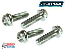 Apico Racing Titanium Hex Head Pre Drilled Bolts M6, M8, MX Motocross Trials x 4