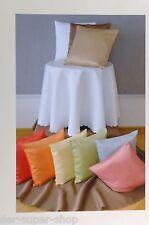 Unterdecke Tischdecke Mitteldecke Decke Deckchen Kissenhülle Kissen 10 Farben