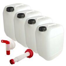 Kanister 10L 4er Set mit Zubehör Wasserkanister Behälter Neu Lebensmittelecht