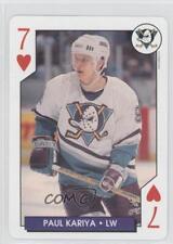 1995-96 Bicycle NHL Hockey Aces Box Set Base #7H Paul Kariya Card