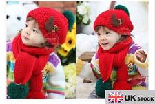 Winter Micke Hat Scarf Set Best Xmas Gift For Boy Girl Children Kids