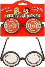 Pranksters Adults Nerd Glasses Clear Lens Fun Jokes Funny Glasses Halloween