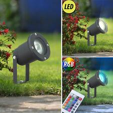 Luxus RGB LED Steck Lampe Außen Hof Garten ALU Beleuchtung Farbwechsler DIMMER