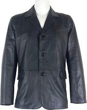 Mens Classic Blazer Suit Leather Jacket Black 'All sizes'  #B5