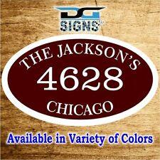 3006 Personalized Home Address Decorative Custom Plaque 12 x 7 Aluminum Sign