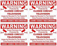 CCTV warning sticker X 4 security safety camera sign sticky back/face 5cmx4cm