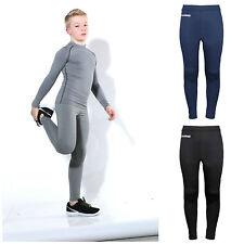Para Niños Chicos Chicas capa base Pantalones Deportivos Calzas Ciclismo rendimiento Kids