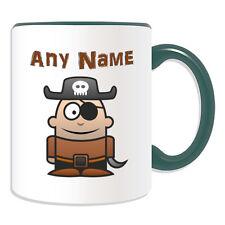 Cadeau personnalisé pirate eyepatch tasse argent boîte cup conte de fées nom eye Pad thé