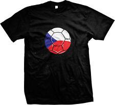 Czech Soccer Ball Flag - Czech Republic Pride Nationality  Mens T-shirt