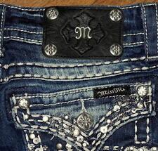 Miss Me Slim Fit Skinny Leg Women's Blue Gray Jeans 25x33 26x31 26x33