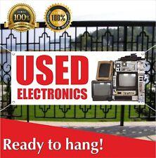 USED ELECTRONICS Banner Vinyl / Mesh Banner Sign Appliances Pawn Shop Pawnshop
