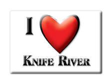 SOUVENIR USA - MINNESOTA FRIDGE MAGNET I LOVE KNIFE RIVER (LAKE COUNTY)