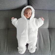 594f88d13 Newborn Infant Baby Boy Girl Hooded Cartoon Flannel Romper Jumpsuit Warm  Clothes