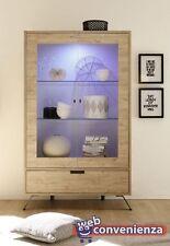 Palma Mobile Vetrina con cassetto Moderno Sherwood Oak Sala Pranzo e Salotto