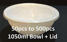 50pcs to 500 pcs 1050ml Big takeaway plastic food container Soup noodle bowl NEW