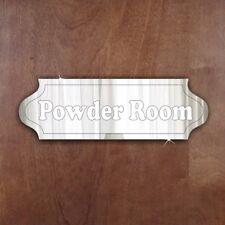 Door- Plaque- Signage-School- Home- Office 'Powder Room' Acrylic Mirror Sign
