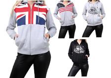 Kids Boys Girls Zip Hoodie Sweatshirt Fleece Jumper Tops t-shirt Cardigan Print