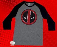 New Marvel Deadpool Raglan Mens T-Shirt