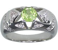 Peridot Gemstone Dome Design Sterling Silver Ring