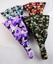 Camouflage headband fabric tapered elastic back camo hair accessory