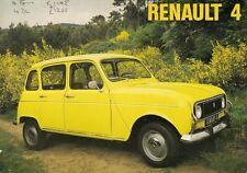 RENAULT 4 1974-75 UK Opuscolo Vendite sul mercato standard DE LUXE Van