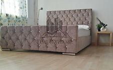 Diamond Florida Mink Upholstered Bed Frame 3FT Single 4FT6 Double 5FT King Size
