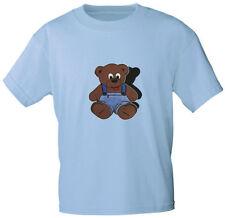 (06890) Kinder Marken T-Shirt Motivdruck ♥ TEDDY BÄR ♥ Gr 92-164 alle Farben