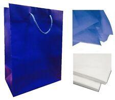 Blu - Opaco laminato FESTA Sacchetti regalo/regalo di compleanno BORSA E x 2