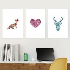 "JUNIWORDS Poster ""Origami Farbe"" Geburtstag Geschenk Tiere Natur DIN A4 A3 A2 A1"