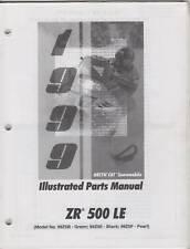 1999 ARCTIC CAT ZR 500 LE SNOWMOBILE PARTS MANUAL