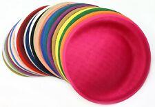 25cm Round Sinamay Dipped Fascinator Hat Base Millinery Craft DIY Supply UK