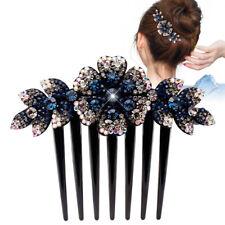 Women's Flower Hair Comb Pins Slide Clips Hair Barrettes Bridal Hair Accessories