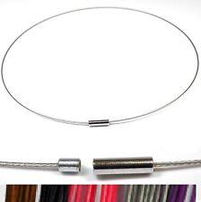 acero inox. Banda De Alambre Collar 41 - 47 cm Cierre magnético Cadena Colores