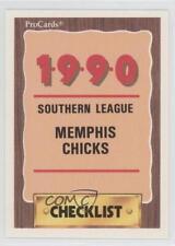 1990 ProCards Minor League #1000 Memphis Chicks Team Baseball Card