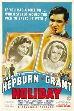 Holiday Cary Grant Katharine Hepburn movie poster