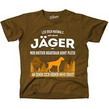 T-Shirt BRAUN JÄGER DEUTSCH DRAHTHAAR kennt Plätze niemand findet Siviwonder