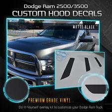 Hood Vent Decal Insert For 2010-2018 Dodge RAM 2500 3500 HD - Solid Flat Matte
