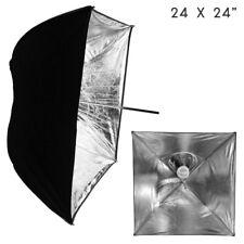 "Lusana Studio 24""x24"" Umbrella Softbox Black Silver for Speedlite Reflector"