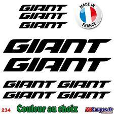 9 Stickers GIANT - Autocollants Adhésifs Cadre Velo Bike VTT Montain - 234