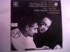 LP BARTOK 2 Rhapsodies BERG violin concerto Isaac Stern