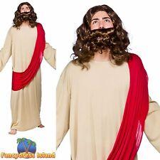 Jesus Christ Religious Robe Christmas Xmas Nativity Mens Fancy Dress Costume
