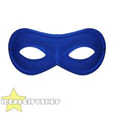 BLUE EYE MASK BURGLAR SUPERHERO FANCY DRESS COSTUME ACCESSORY