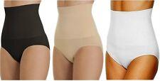 Ladies Firm Tummy Control Nylon Briefs Pants Underwear  Black  Nude sizes 12-26