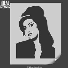 Amy Winehouse Stencil Reutilizable Decoración Hogar Pintura Arte Arte Ideal Stencils Ltd