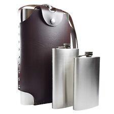 Giant Hip Flask Amazing Gift PU Leather Case Personalised - 64oz. 12oz. or 10oz.