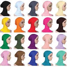 2016Hot Hijab Islamic Head Wear Under Scarf Hat Cap Bone Bonnet Neck Chest Cover