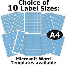 Blu Laser Fotocopiatrice Etichette Stampante a getto d'inchiostro 5 FOGLI A4 adesivi AUTOADESIVO