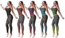 Da Donna Fitness Palestra Allenamento Jogging Sport Esercizio 2 PEZZI Canotta e Leggings Set