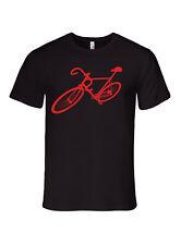 Bike bicyle shirt, mens black, premium tee tshirt