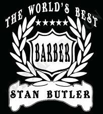 Barber Camiseta Personalizado Agregar Nombre Regalo Gran Idea hairdresser